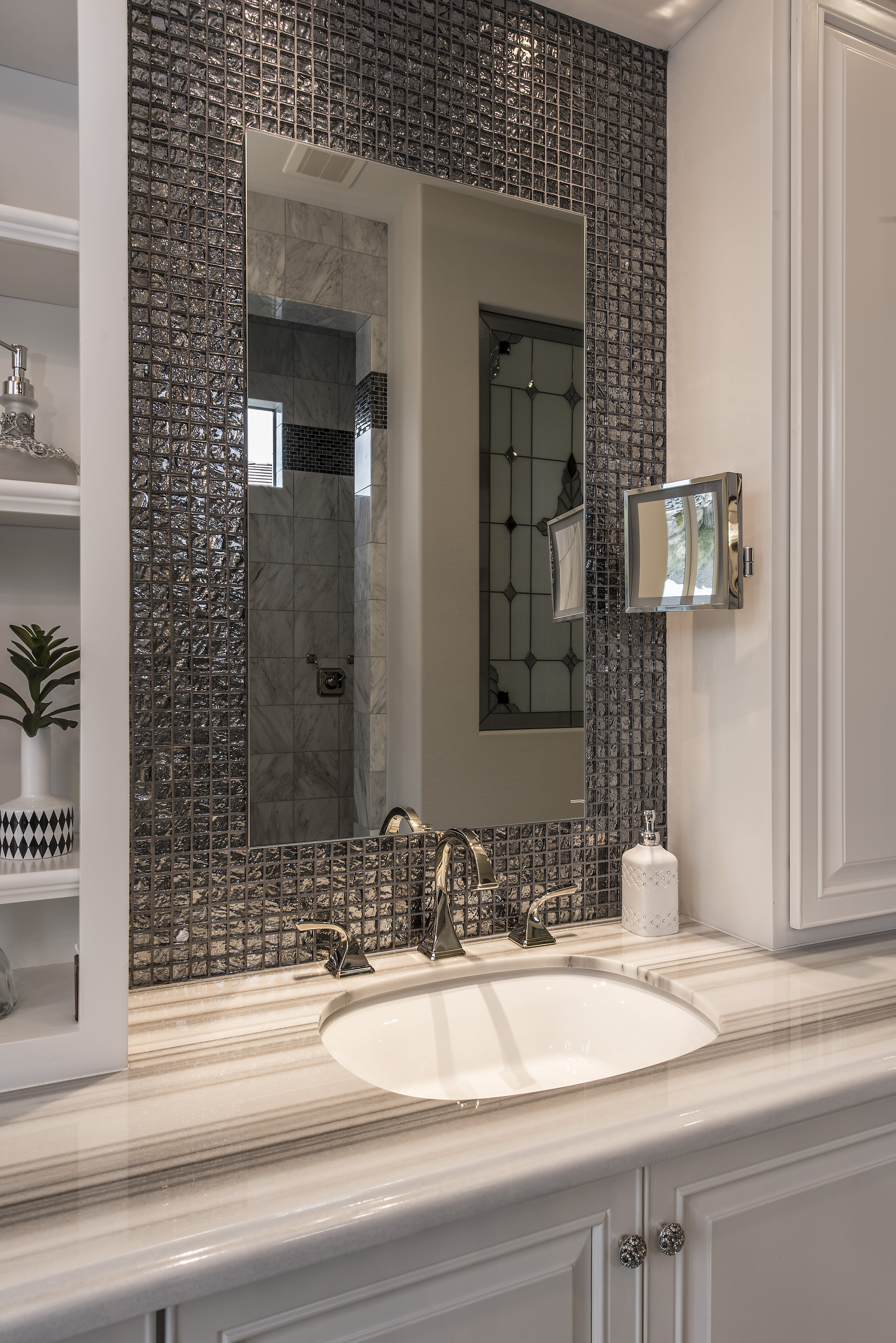 Retro Glam Master Bathroom