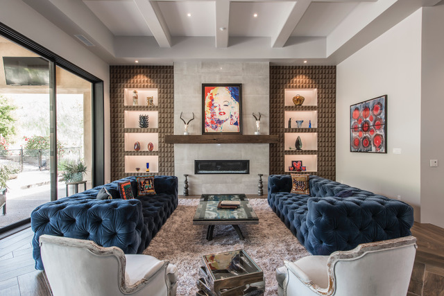 Contemporary Living Room and Wet Bar - Sandy Black Interiors